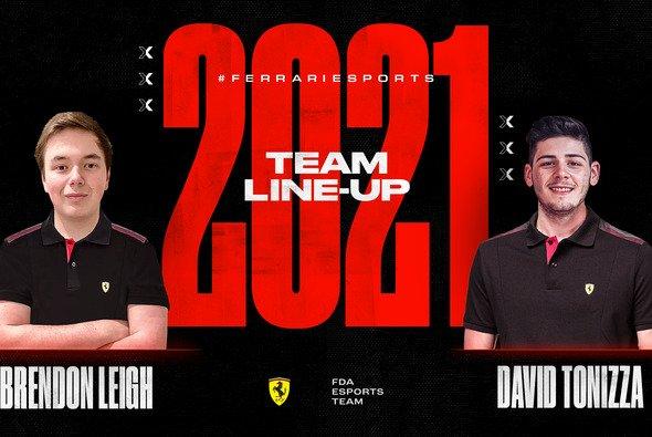Mit Brendon Leigh und David Tonizza vereint Ferrari 2021 drei Titel im FDA Esports Team - Foto: Ferrari
