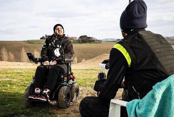 Valentino Rossi mit Bryan Toccaceli beim Training auf der Ranch - Foto: Facebook/Valentino Rossi