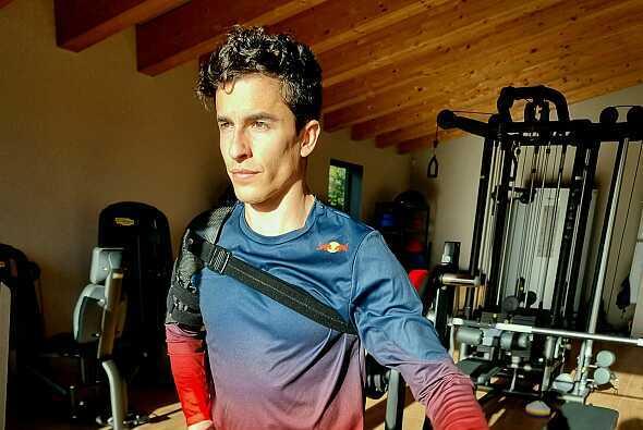 Marc Marquez arbeitet bereits wieder im Fitnessstudio - Foto: Facebook/Marc Marquez