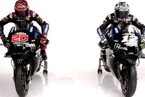 Fabio Quartararo übernimmt das Motorrad von Valentino Rossi - Foto: Yamaha/Screnshot