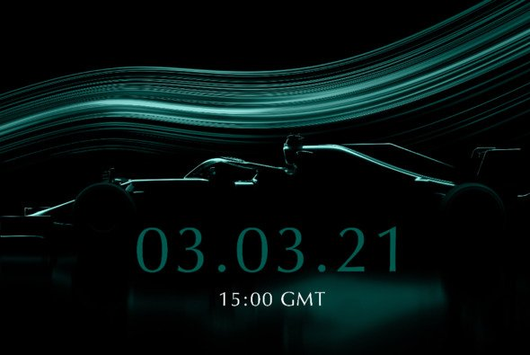 Aston Martin präsentiert sein neues Formel-1-Auto am 03. März 2021 - Foto: Aston Martin
