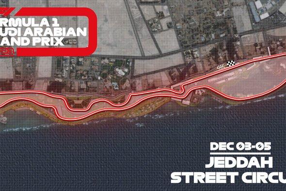 Der Jeddah Street Circuit verfügt nun offiziell über ein Layout - Foto: Formula 1