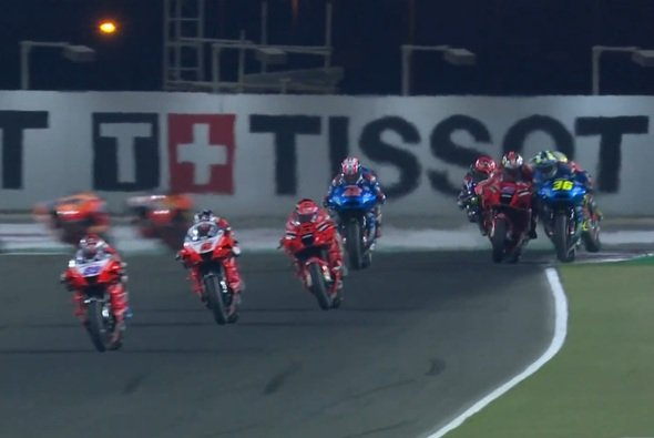 Hier gerieten Miller und Mir aneinander - Foto: Screenshot/MotoGP