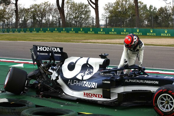 Formel-1-Rookie Yuki Tsunoda bezahlte beim Qualifying in Imola Lehrgeld - Foto: LAT Images