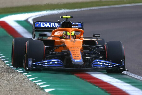 Lando Norris und McLaren scheiterten im Imola-Qualifying an der Strecke - Foto: LAT Images