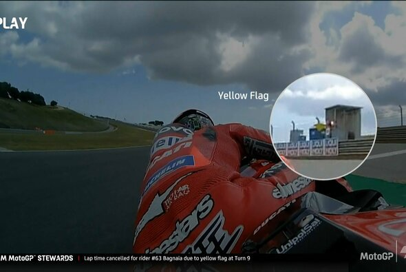 Diese Gelbe Flagge wurde Francesco Bagnaia zum Verhängnis - Foto: MotoGP/Twitter