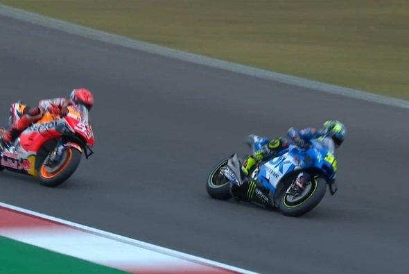 Marc Marquez klebte in Q1 am Hinterrad von Mir - Foto: Screenshot/MotoGP
