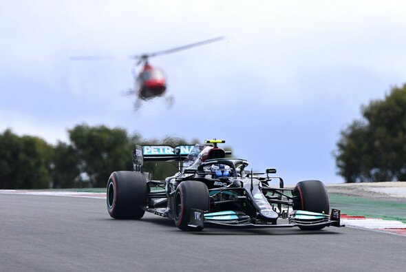 Valtteri Bottas startet beim Formel-1-Rennen in Portugal am Sonntag von der Pole Position - Foto: LAT Images