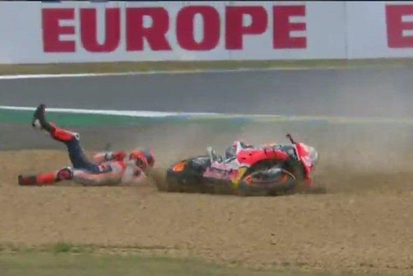 Marc Marquez erwischte es am Ende der Session in Turn 9 - Foto: Screenshot/MotoGP