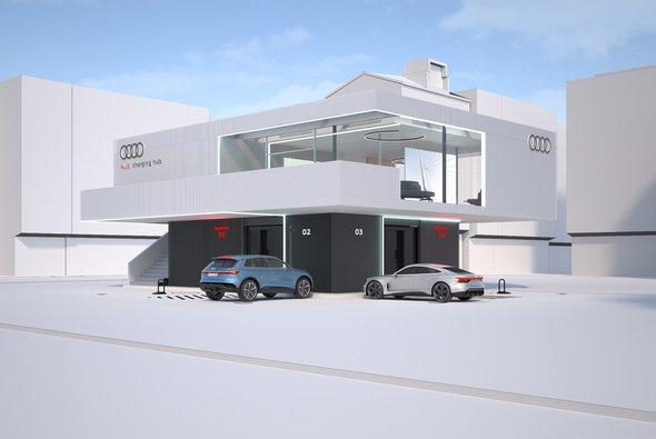 So sollen die 'Charging Hubs' von Audi aussehen - Foto: Audi