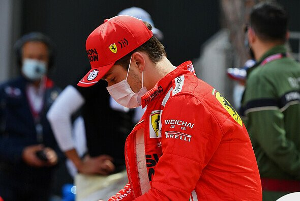 Charles Leclerc unmittelbar nach der bitteren Erkenntnis, in Monaco nicht starten zu können - Foto: LAT Images