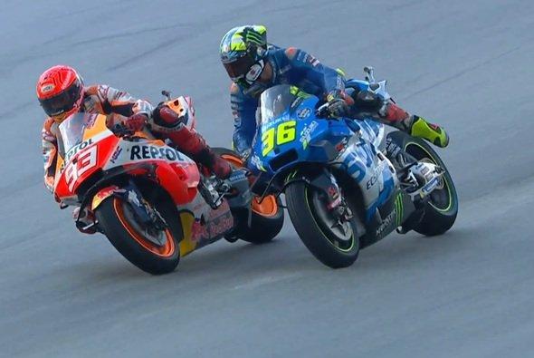 Über diese Szene ärgerte sich Joan Mir - Foto: Screenshot/MotoGP