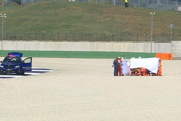 Zwei schlimme Unfälle überschatteten das Moto3-Training - Foto: MotoGP.com/Screenshot