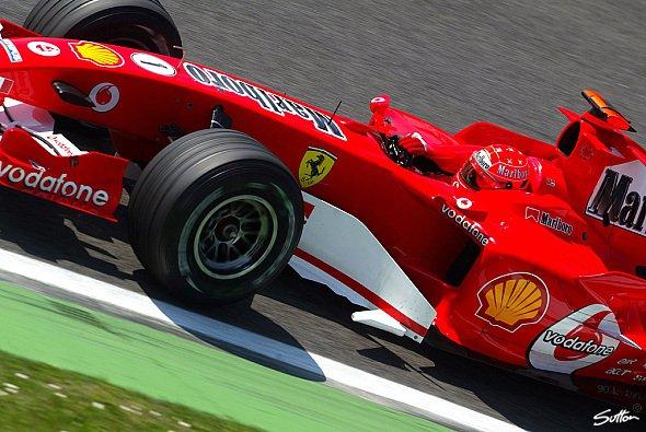 Michael Schumacher war klar der Schnellste am Morgen. - Foto: Sutton