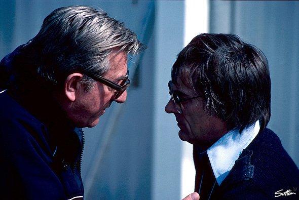 Ken Tyrrell und Bernie Ecclestone. - Foto: Sutton