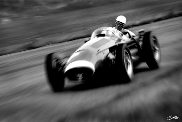 Stirling Moss beim Silverstone GP. - Foto: Sutton