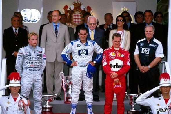 Juan Pablo Montoya nach seinem Sieg beim Großen Preis von Monaco - Foto: Sutton