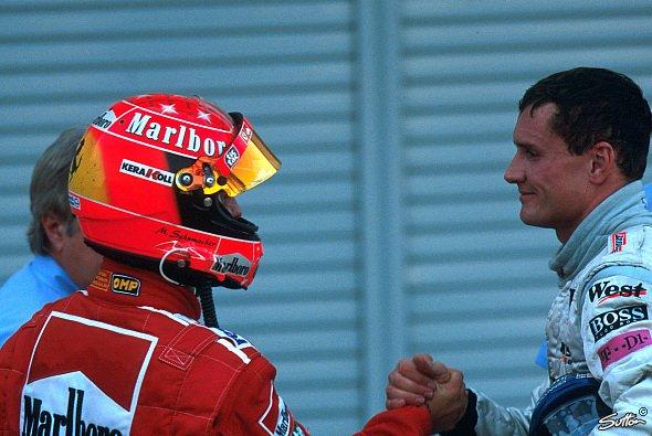 Michael Schumacher und David Coulthard: Lange Zeit große F1-Rivalen