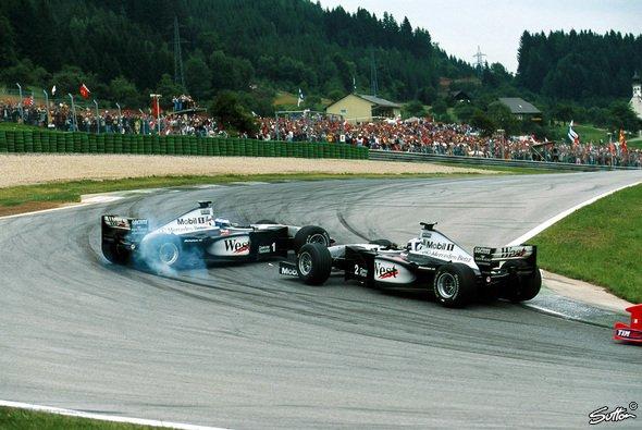 1999 lieferten sich Coulthard und Häkkinen ein heißes Duell in Spielberg