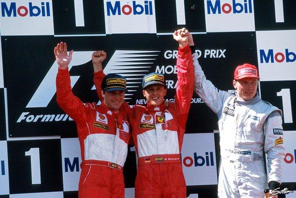 Doppelsieg für Ferrari: Acht Jahre nach Mansell und Prost holt Ferrari wieder Platz 1 und 2. - Foto: Sutton