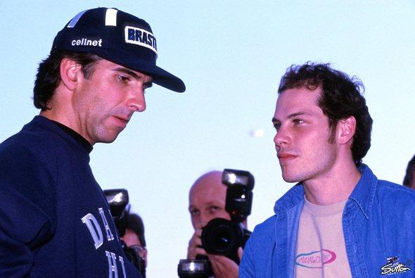 Damon Hill wurde 1997 in Ungarn ein sensationelle Sieg durch Jacques Villeneuve entrissen - Foto: Sutton