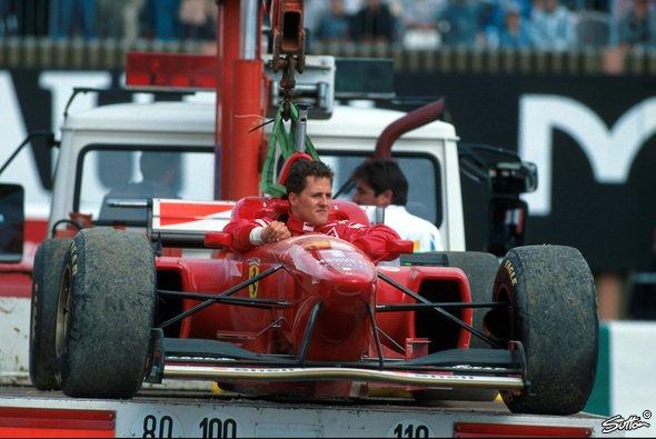 Michael Schumacher fiel in Frankreich 1996 vor dem Start aus