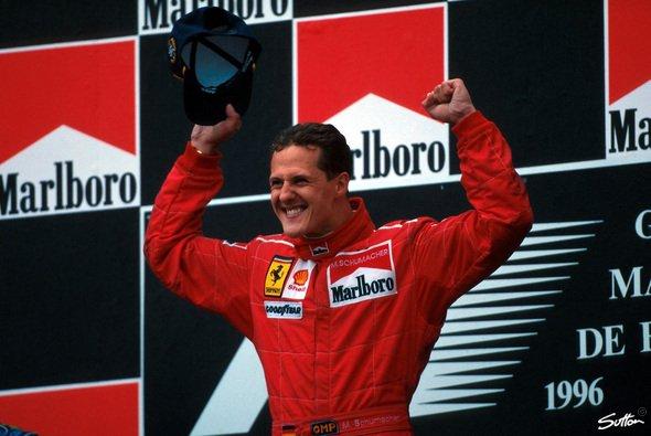 Wo feierte Michael Schumacher seinen ersten Sieg in Rot? - Foto: Sutton