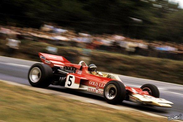Jochen Rindt im legendären Gold Leaf Lotus - Foto: Sutton
