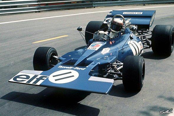 Jackie Stewart beim Spanien GP 1971.