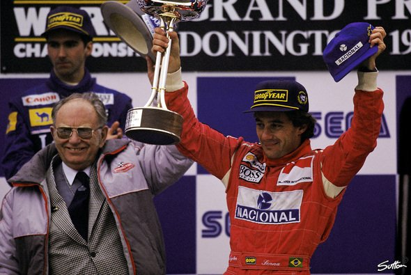 Sein größter Sieg: Senna fuhr in Donington 1993 wie von einem anderen Stern