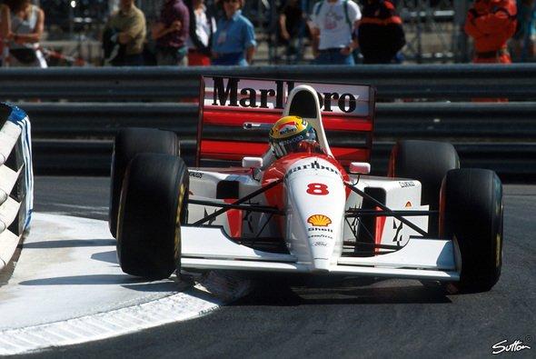 Im McLaren MP4/8A gewann Ayrton Senna seinen sechsten Monaco GP - bis heute Rekord - Foto: Sutton