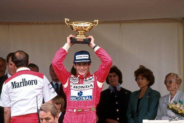 Ayrton Senna gewann den Grand Prix von Monaco rekordbringende sechs Mal - Foto: Sutton