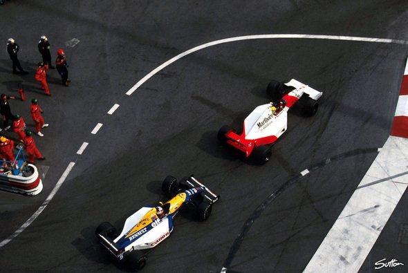 Senna gegen Mansell: Ein episches Duell auf den letzten Runden - Foto: Sutton