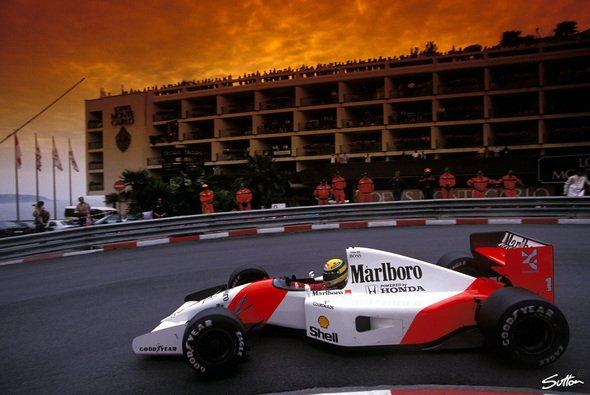Der König von Monaco, Ayrton Senna, im Fürstentum