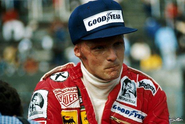 Schwer gezeichnet beim Comeback in Monza 1976 - in die Rolle von Niki Lauda soll Daniel Brühl schlüpfen