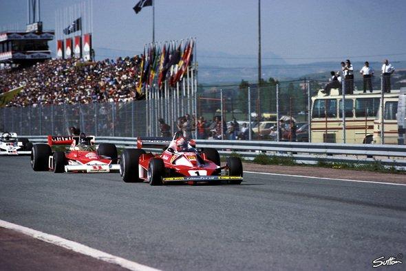 Das F1-Duell der Saison 1976, Hunt vs. Lauda, wurde mit Rush verfilmt - Foto: Sutton