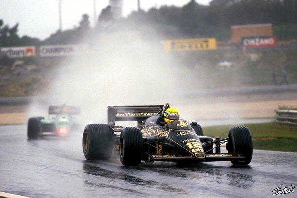 Ayrton Sennas erster Formel-1-Sieg beim Portugal GP 1985 in Estoril gehörte sofort zu den beeindruckendsten seiner ganzen Karriere - Foto: Sutton
