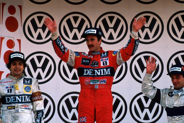 Nigel Mansell triumphierte in Mexiko 1987 - Foto: Sutton