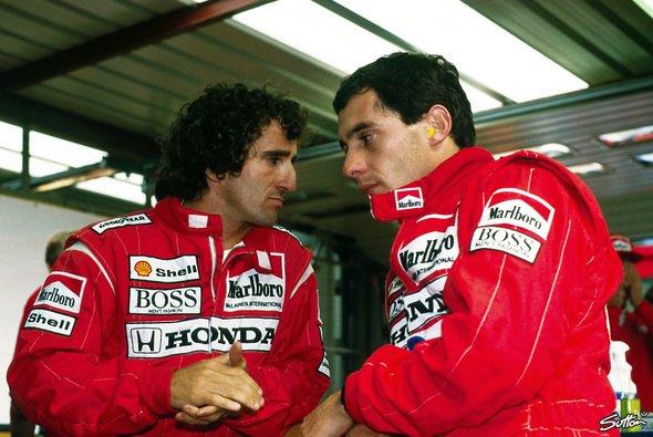 Alain Prost dankt seinem ehemaligen Teamkollegen Ayrton Senna