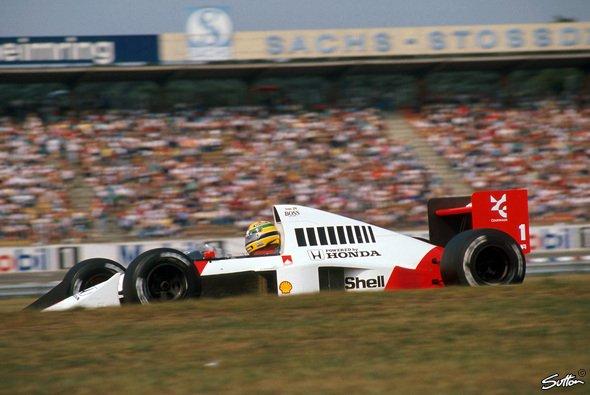 Bildhübsch aber nicht unter den Favoriten der Redaktion: Der McLaren von 1989 - Foto: Sutton