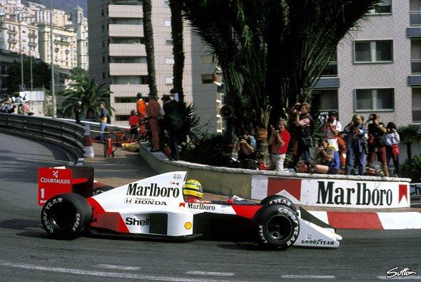 Ayrton Senna erlebte in Monaco zwischen vielen Sternstunden auch eine der bittersten Niederlagen - Foto: Sutton