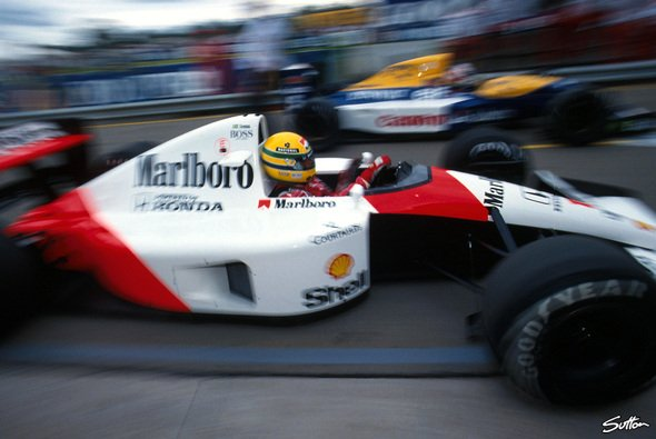 Senna im McLaren: Eine legend�re Kombination - Foto: Sutton