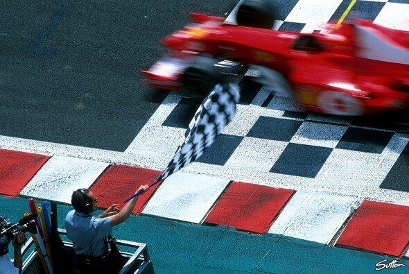 Michael Schumacher gewann seine fünfte Weltmeisterschaft in Frankreich