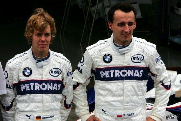Ein ganz junger Sebastian Vettel neben Robert Kubica - auch die Formel-1-Karriere des Heppenheimers begann als Ersatzspieler für den Polen