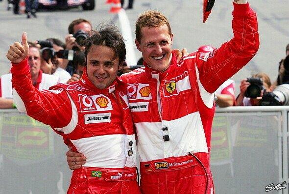 Felipe Massa fühlt sich an die gemeinsame Ferrari-Zeit mit Michael Schumacher zurückerinnert - Foto: Sutton