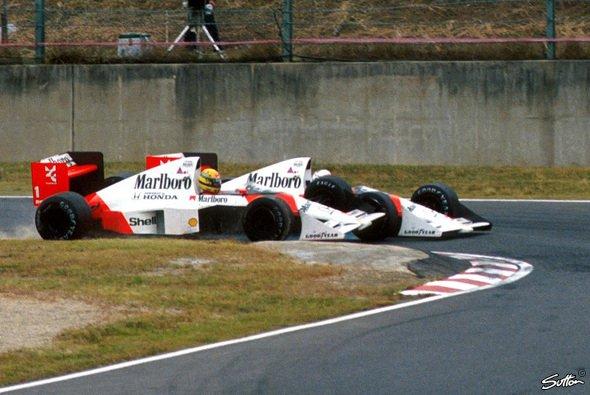 Zwischen Alain Prost und Ayrton Senna eskalierte das Teamduell