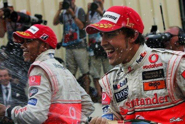 Ein Bild aus längst vergangenen Tagen: Hamilton & Alonso bei McLaren