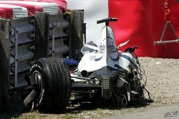 Das Monocoque schützte Robert Kubica vor schlimmeren Verletzungen.