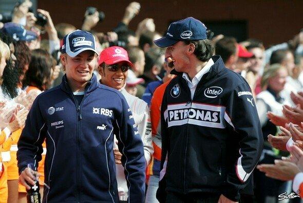 Robert Kubica und Nico Rosberg kennen sich seit vielen Jahren - Foto: Sutton