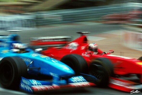 Konkurrenten auf der Piste: Alexander Wurz und Michael Schumacher